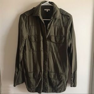 EUC Army Green Jacket Shirt